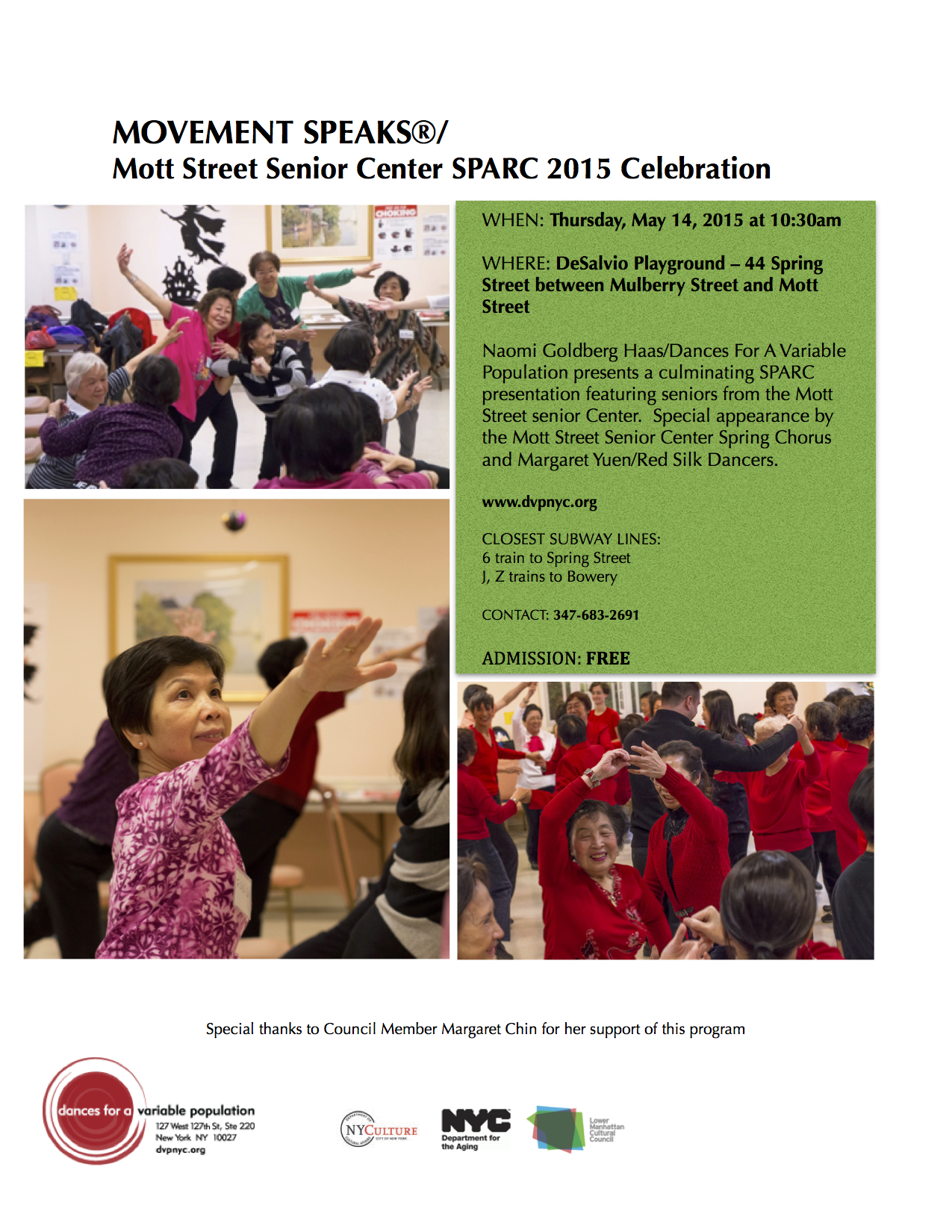 Mott Street SPARC Performance May 6 2015