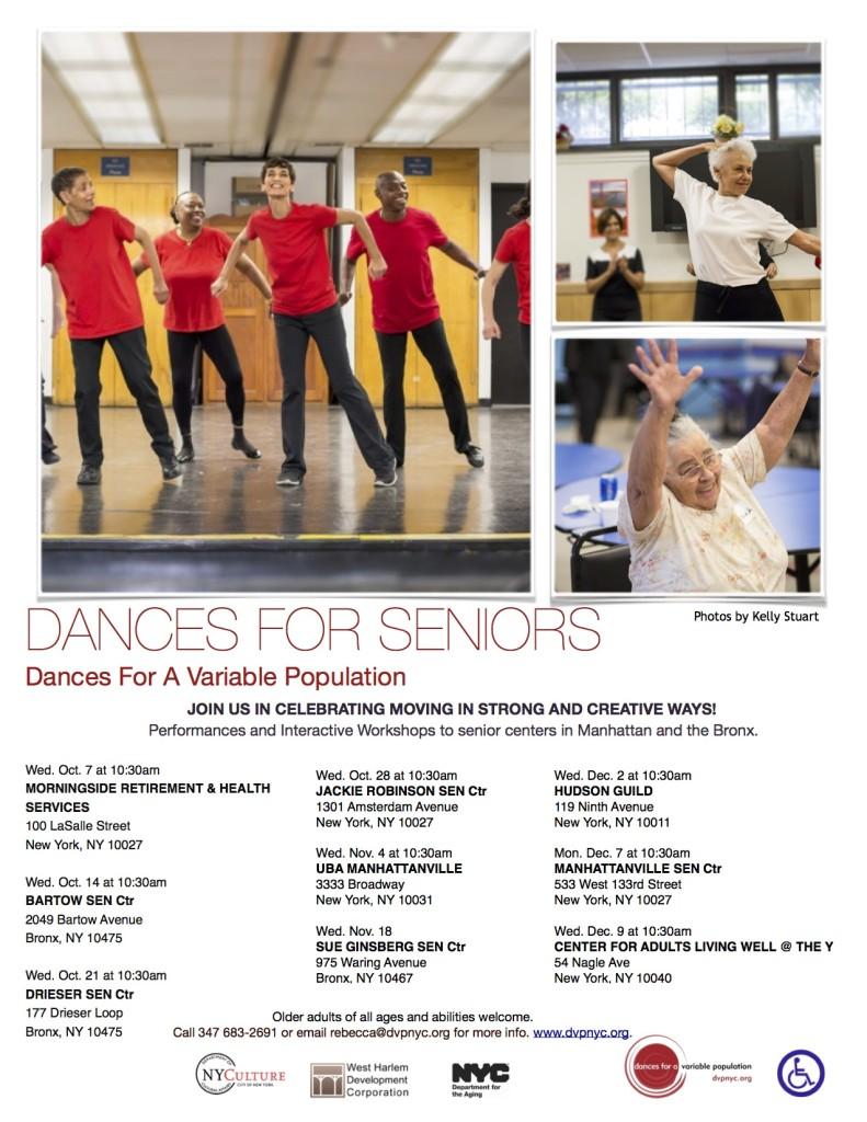 Dances For Seniors 2015 Flyer