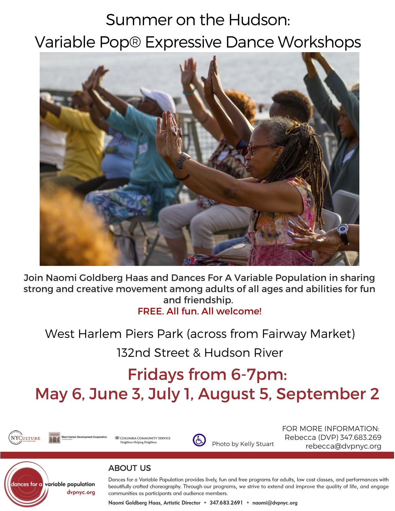 West Harlem Piers Classes Summer 2016